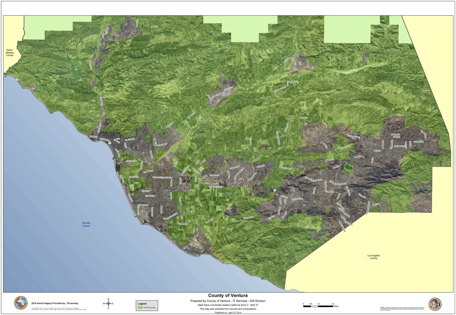 County Wide Map Of SOAR Protected Lands SOAR - Los angeles ventura map